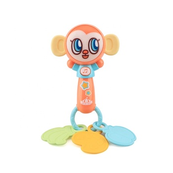 CE certificate lovely monkey shape electric baby learning musical shake jam rattle toys