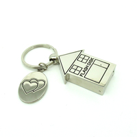 Cute Metal House Shape USB Flash Drive 8GB Pendrive 16GB 32GB Corporate Gift