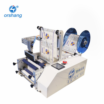 2020 Manual fast semi automatic adhesive wine round bottle labeling machine