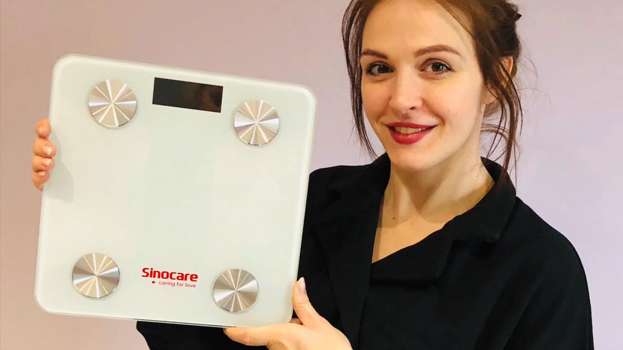Sinocare Smart Bluetooth Body Fat Analyzer Skala BMI Digital Kamar Mandi Elektronik Skala Berat
