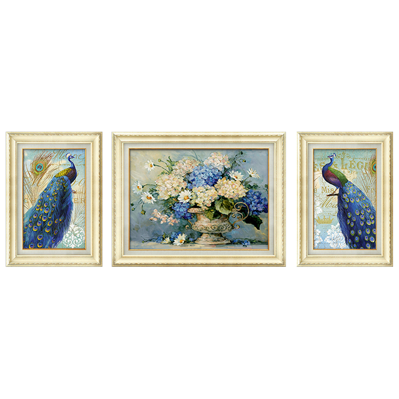 2020 new peacock and flower wall art painting canvas for decor