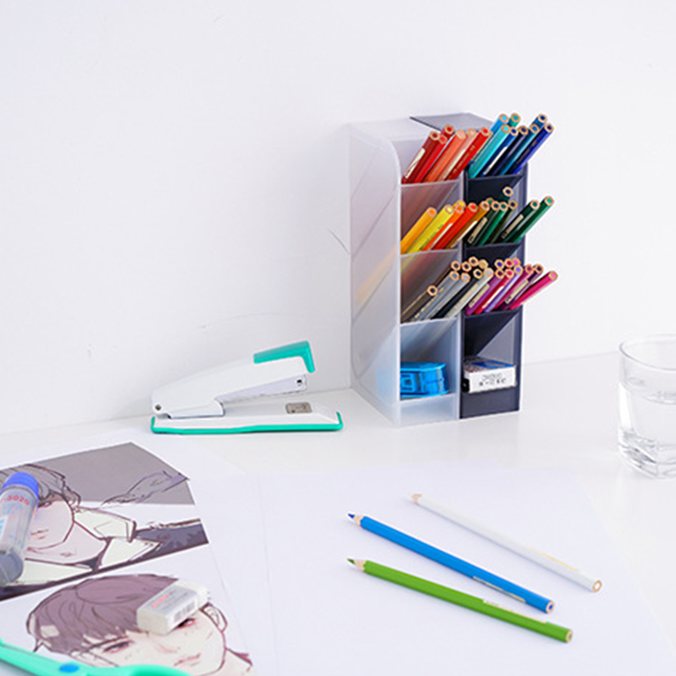 Eco-friendly Multi-layer pen Storage Box Multifunctional pen holder
