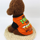 Cute Spring Autumn Cartoon Print Halloween Pattern T-shirt For Dogs Pet Halloween Clothes
