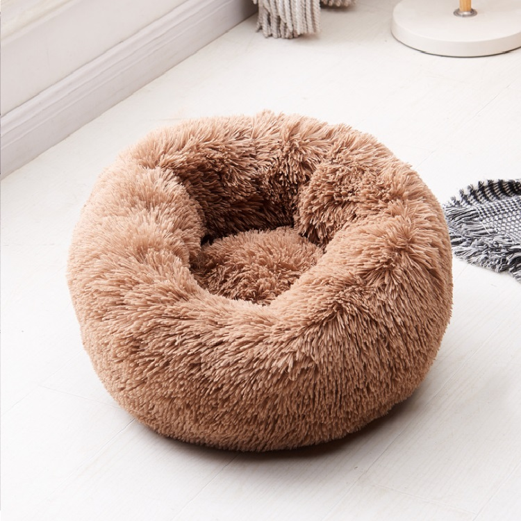 Wholesale Custom Modern Fluffy Dog House Sleeping Sofa Bed Round Luxury Plush Pet Dog Bed