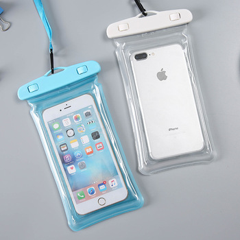 Good quality custom logo clear PVC waterproof bag armband floating phone pouch waterproof