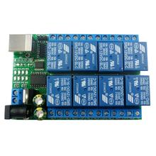 2 in 1 DC 5V 12V 24V 8ch USB Serial Port Relais Modul UART RS232 TTL Schalter board CH340 für Windows <span class=keywords><strong>Linux</strong></span> MAX <span class=keywords><strong>OS</strong></span>