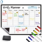 10.6-3 Magnet weekly planner paper magnetic dry erase weekly calendar for fridge