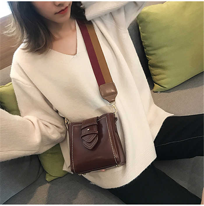 2020 Trendy Kulit Wanita Slim Tas Selempang Fashion Mini Tas Bahu untuk Wanita Jenis Kelamin Yang Indah Messenger Bag