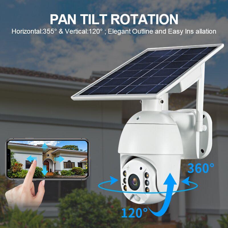 UBOX S10 1080P açık güneş enerjili Wifi kablosuz 4G 3G 5G gözetim kapalı devre kameralar PTZ güvenlik kamera güneş enerjisi sistemleri