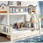 Children Bed High-end Children Bed Kids Bedroom Furniture Double Bunk Bed With Stairs Cabinet