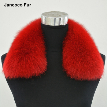 New Winter Real Fox Fur Collar For Women Men Jacket Fashion Warm Scarf Natural Fur Collar S1402