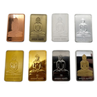 Custom india Buddha logo 1 gram 999 silver bar bullion 1 ounce fake and real gold plated bars 24k pure bullion souvenir