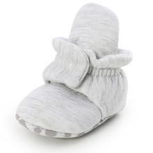 Носки для новорожденных, обувь для мальчиков и девочек со звездочкой, для начинающих ходить, мягкие, Нескользящие, теплые, хлопковые, для дет...(China)