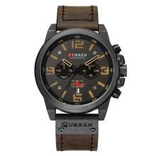 CURREN 8314 мужские часы Топ люксовый бренд водонепроницаемые спортивные наручные часы хронограф кварцевые Военные Кожаные Relogio Masculino(Китай)