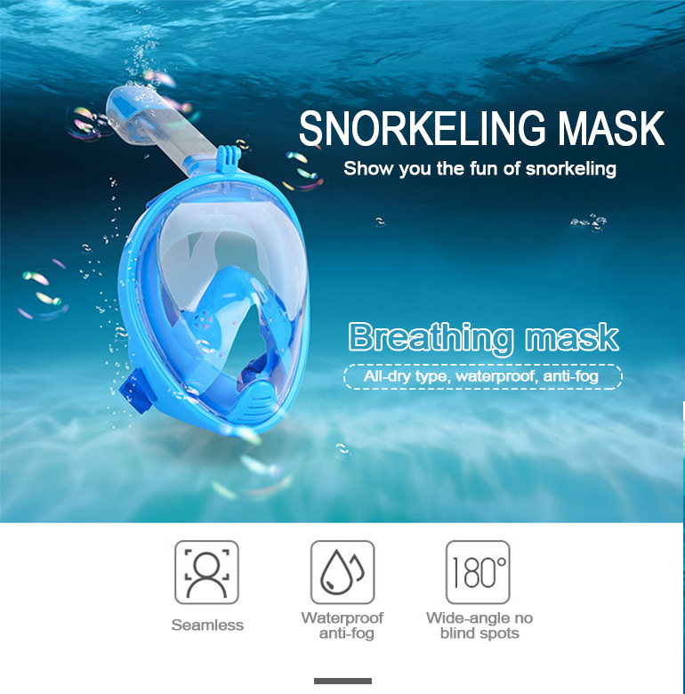 Children size snorkeling plastic summer outdoor sea swimming kids diving mask