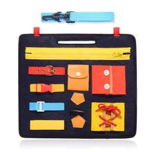 a atividade educativa Board Placa De Bebê Ocupado para crianças sensorial Montessori Brinquedo