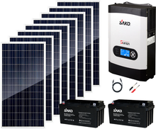 2000W Solar System 8pcs 250W <span class=keywords><strong>Poly</strong></span> Solar Panel 3KW Hybrid Inverter Inverter MPPT Controller 80A Off Grid solar System IEC62109