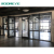 Aluminum storefront door window curtains