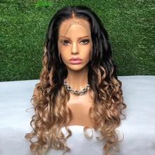 11Inch Nero HGOOD-WIG Riccia Parrucca Afro Ombre Capelli Ricci in Fibra Sintetica Resistente al Calore Parrucca Natura per Le Donne 27cm