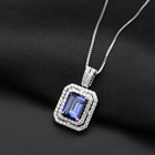 Drop Shipping Natural Mystic Quartz Stone Box Chain 925 Sterling Silver Jewelry Necklace