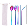 6pc colorful tableware & white bag