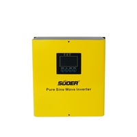 Suoer 1500VA 1.5KVA 12v Low Frequency Pure Sine Wave Power Inverter built-in charger