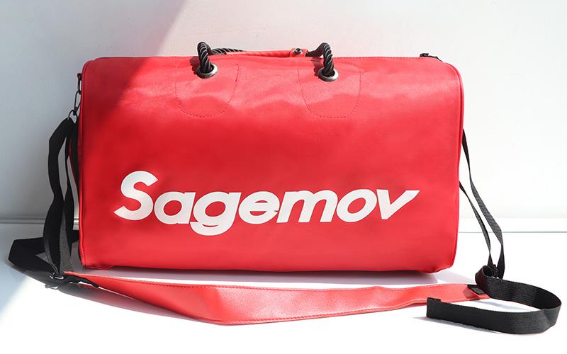 Travel bag Printed logo Custom logo Nylon PU Leather GYMBAG for MountaineeringHiking Sport Waterproof hand bag Travel bags