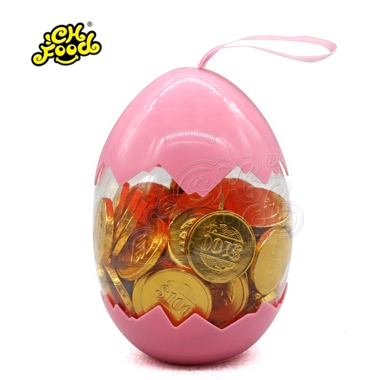 CHFOOD Gold Coin chocolate in egg bottle CH-CHO369