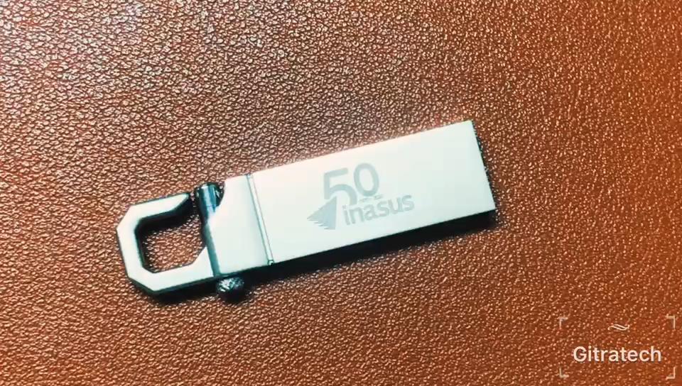 Gitra45 Promotional Custom Logo Wholesale Bulk Cheap Mini Metal Keychain Hook Smi USB Stick 2.0 3.0  USB Flash Drive 8GB