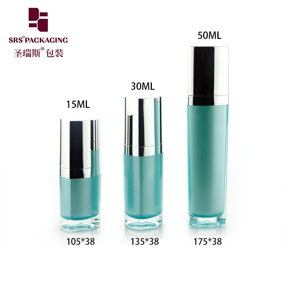 15ML 30ML 50ML triangle shape acrylic lotion luxury serum bottle