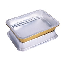 Aangepaste <span class=keywords><strong>aluminiumfolie</strong></span> fast food verpakking <span class=keywords><strong>voedsel</strong></span> dient nemen verwarmd lunch containers