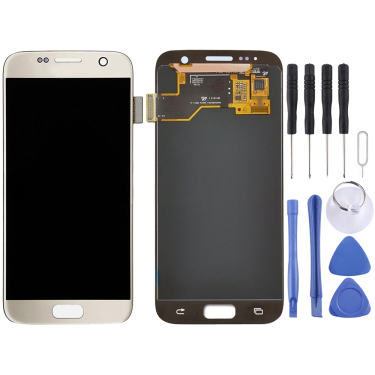 Original LCD Display + Touch Panel für Galaxy S7/G9300/G930F/G930A/G930V, G930FG, 930FD, G930W8, G930T, G930U (Gold)