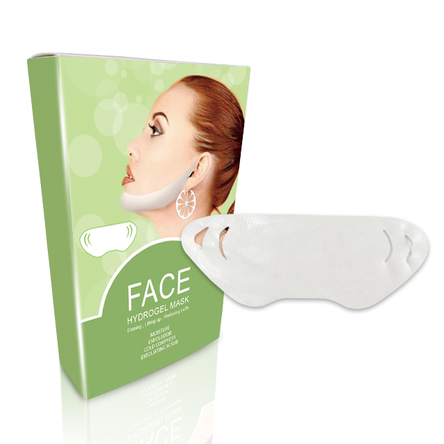 FDA OEM/ODM Amazon Vendita Calda Idrogel di Sollevamento del Nastro del Viso V Patch Chin Up Lifting del Viso Maschera