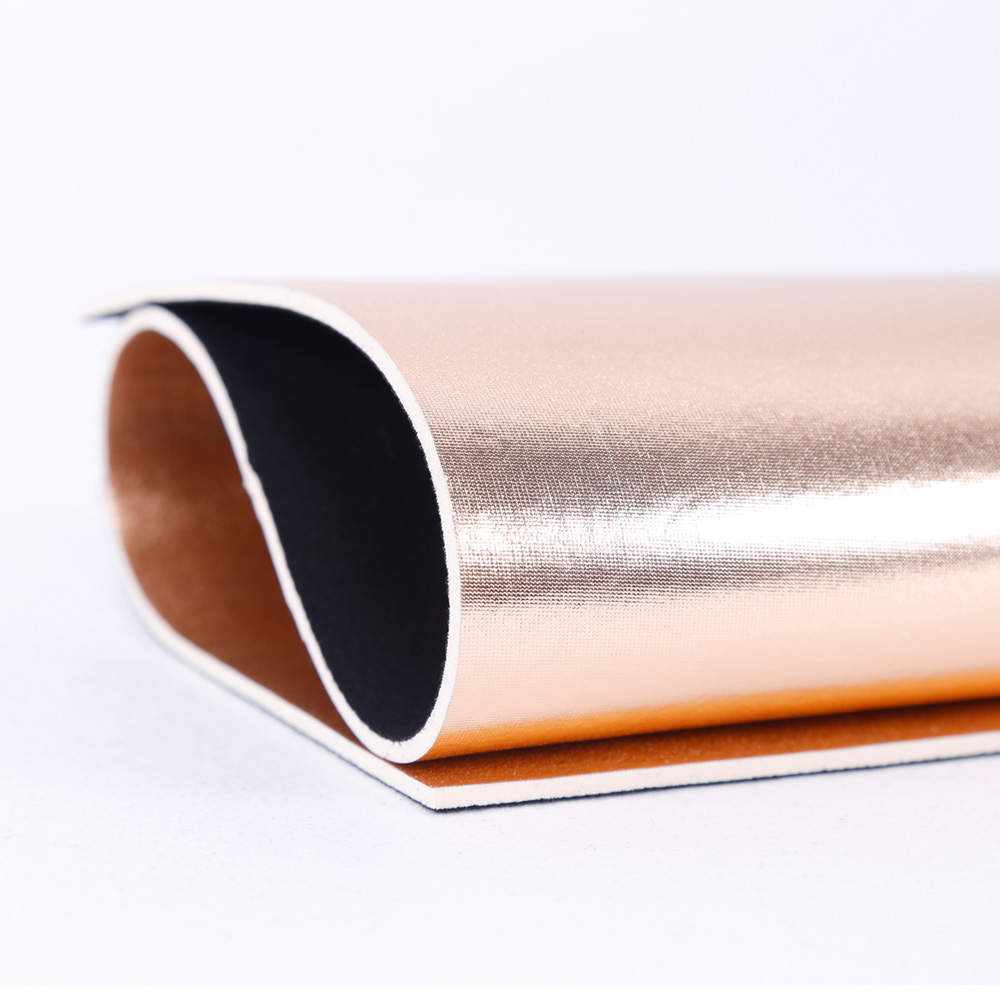 Jianbo 3mm White Neoprene Sheet Coated waterproof Shiny Bronzing polyester fabric and Polyester fabric for Bags