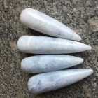 Wholesale Natural Baby Blue Celestite Quartz Crystal Massage Wands Crystal Massage Yoni Wands for healing