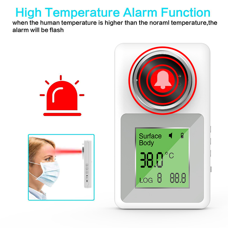 Aiqura non-contact infrared thermometer digital thermoscanner thermometer non-contact for fever voice broadcast and alarm