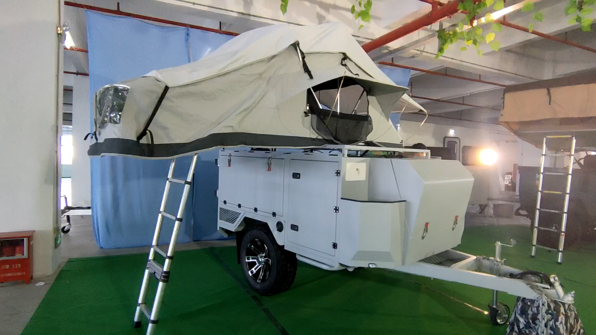 Factory Aluminum Mini Camper Travel Trailer Use Overland Camping and Off Road Trailers for sale