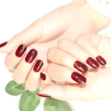 24 шт накладные ногти пресс на накладные ногти клейкое покрытие отсоединяющиеся ногти Поддельные гелевые ногти палочка на ногти дизайн ногт...(Китай)