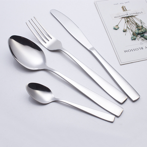 cheap price spoon fork knife stainless steel cutlery flatware set