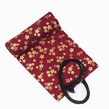 48 отверстий, Kawaii, кисти для макияжа, школьный рулон, чехол-карандаш, холщовая ручка, сумка для девочек и мальчиков, в китайском стиле, канцеля...(Китай)