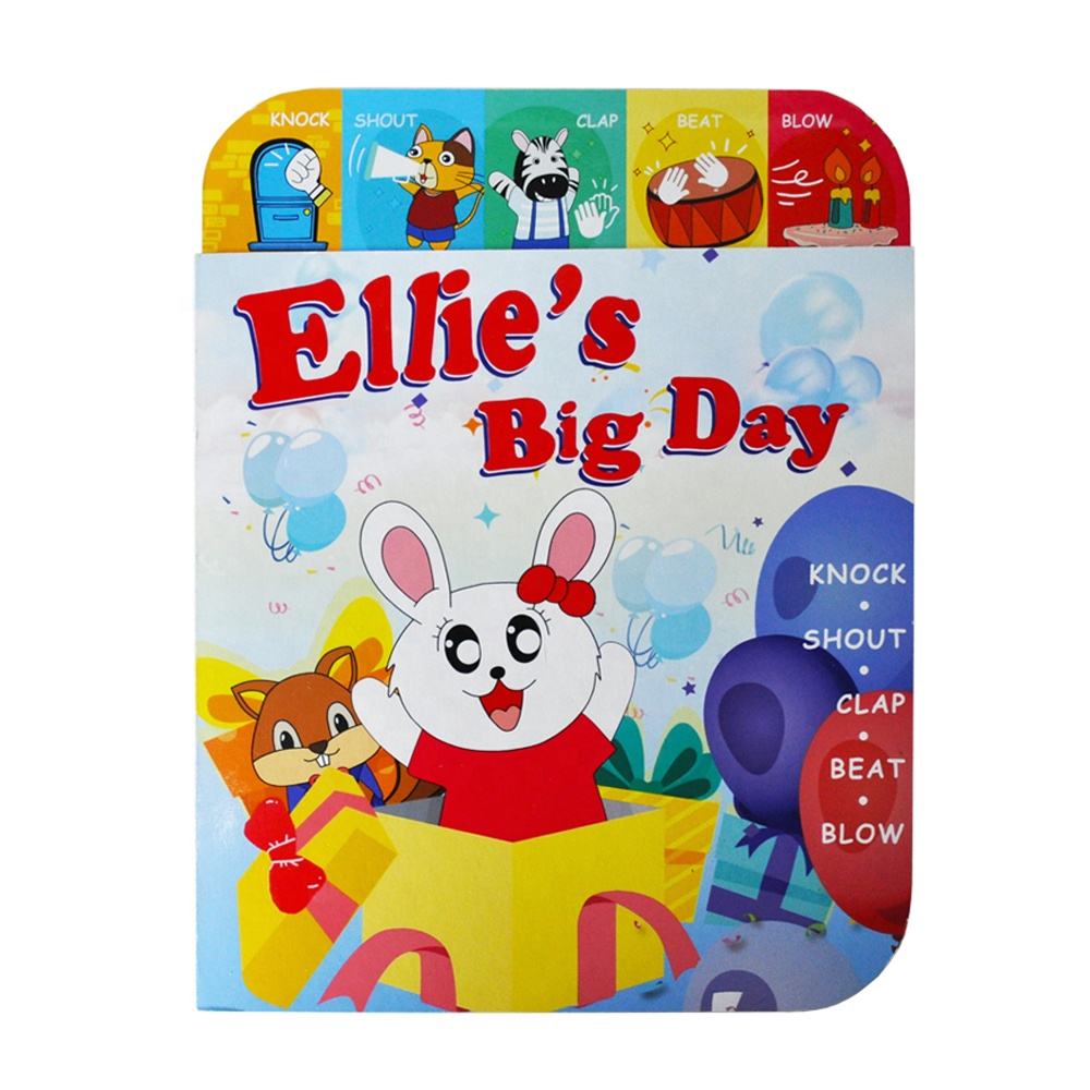ELETREE Ellie's Big Day educational toy kids english speaking <strong>book</strong> high quality sound <strong>book</strong> printing children board <strong>book</strong> ELB-18K