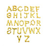 A-Z gold color pls note the quantity of each letter