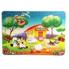 Funny farm animals child teaching 48 pieces of jigsaw puzzle education toys for baby girl
