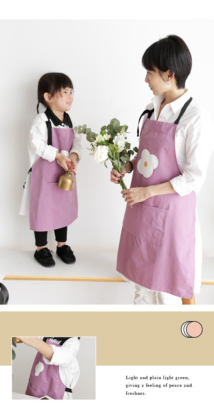 Originale Designapron Formato Dei Capretti Bella Famiglia Picnic Cotone Poliestere Genitore-bambino Grembiule Per La Cucina E La Pittura