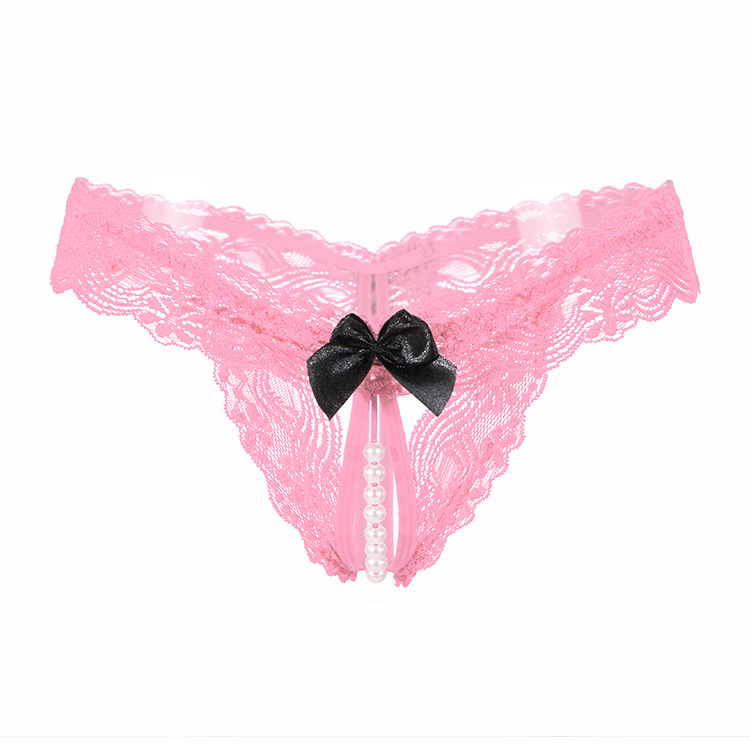 Can Directly Ship to Amazon Warehouse Crotch Less Beaded Open No Crotch Lace Panties for Women