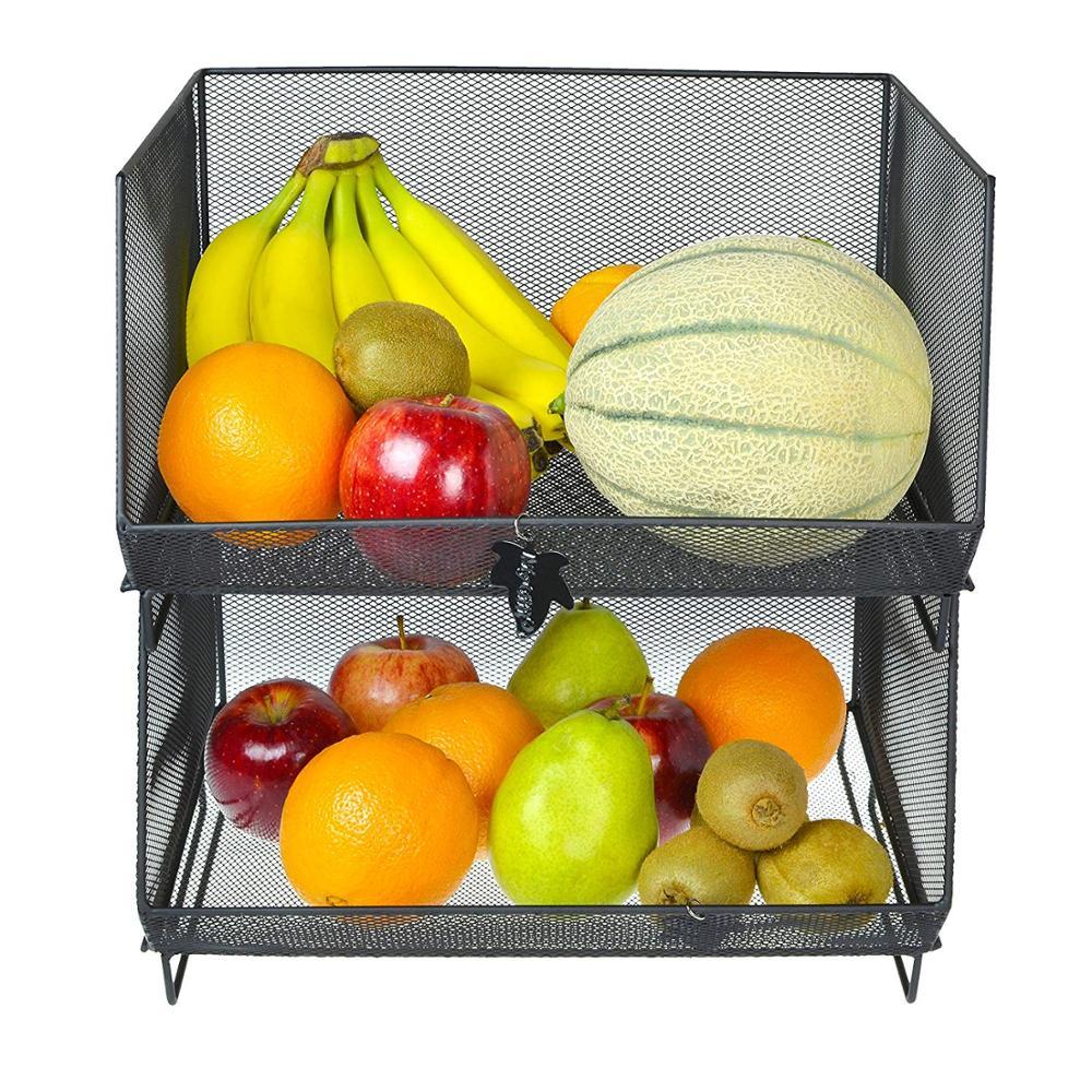 Viola TOPBATHY Cestino di Frutta impilabile Vuoto per Cestino di plastica per Frutta e Verdura