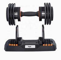 weight lifting adjustable dumbbell sets fitness dumbbells 40kg 90lbs for sale