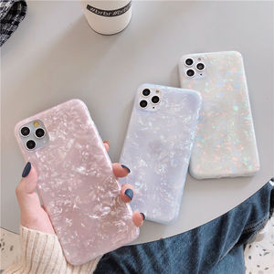 Soft IMD Silicone Cover For iPhone 11 Pro Dream Shell Pattern Glitter Case For iPhone 11 11 Pro Max XR XS Max X XS 8 7 6 6S Plus