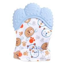 Детские Силиконовые варежки, прорезыватели, перчатки, звук, прорезыватель, для новорожденных, жевательные, для кормления, варежки, прорезыв...(Китай)