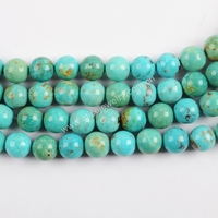 LS058 Natural Turquoise Loose Beads 8mm Gemstone Beads For Jewelry Making